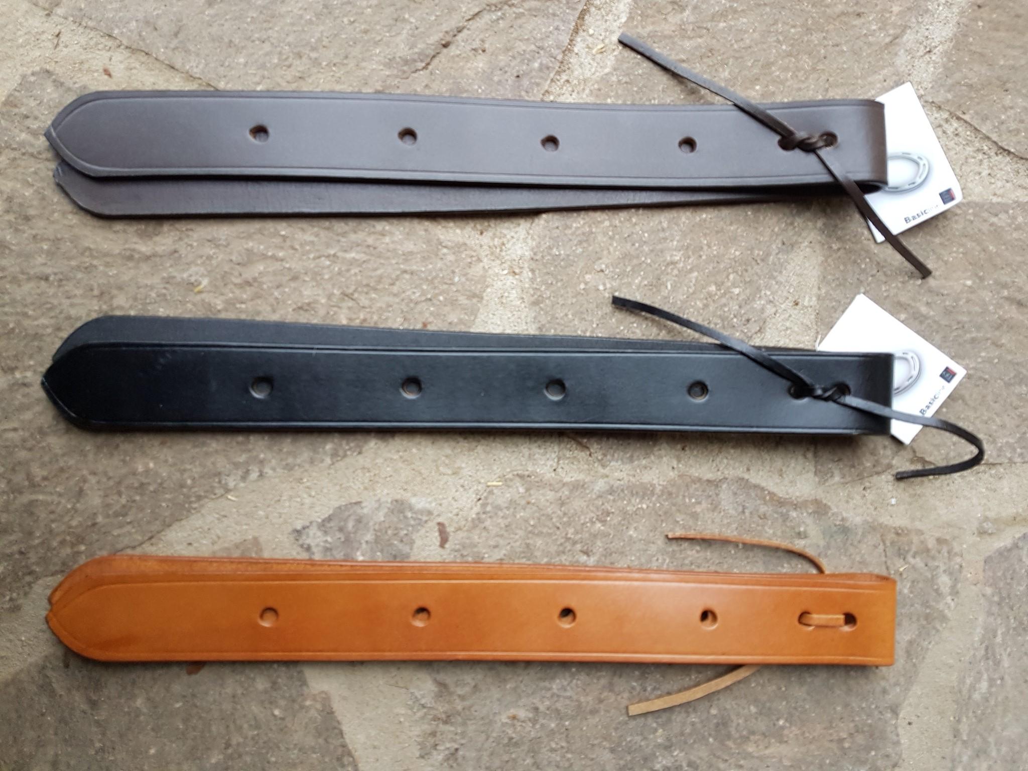 Western Tie Strap /& Off Billet Leder braun für Sattelgurt am Westernsattel